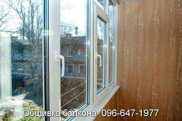 обшивка балкона пластиком или деревом