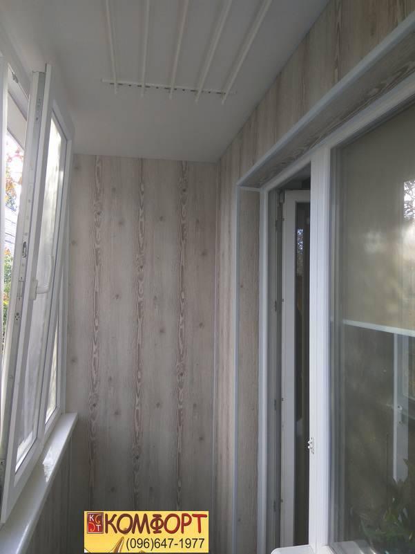 пластик для обшивки стен на балконе