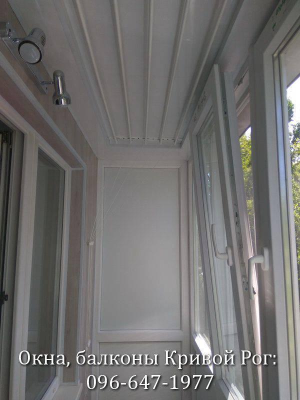 пластик и работа для внутренней обшивки балкона
