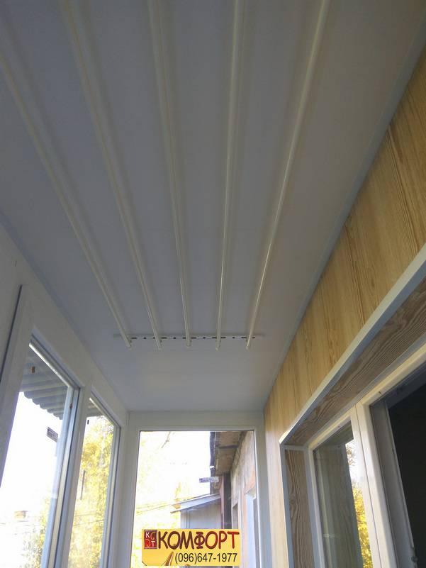 Обшивка балкона изнутри прочным пластиком