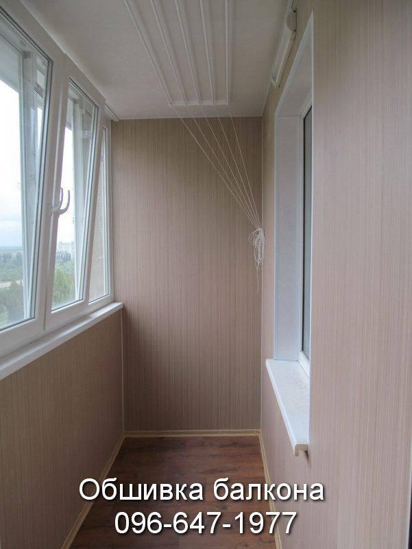 утепление и обшивка балкона пластиком