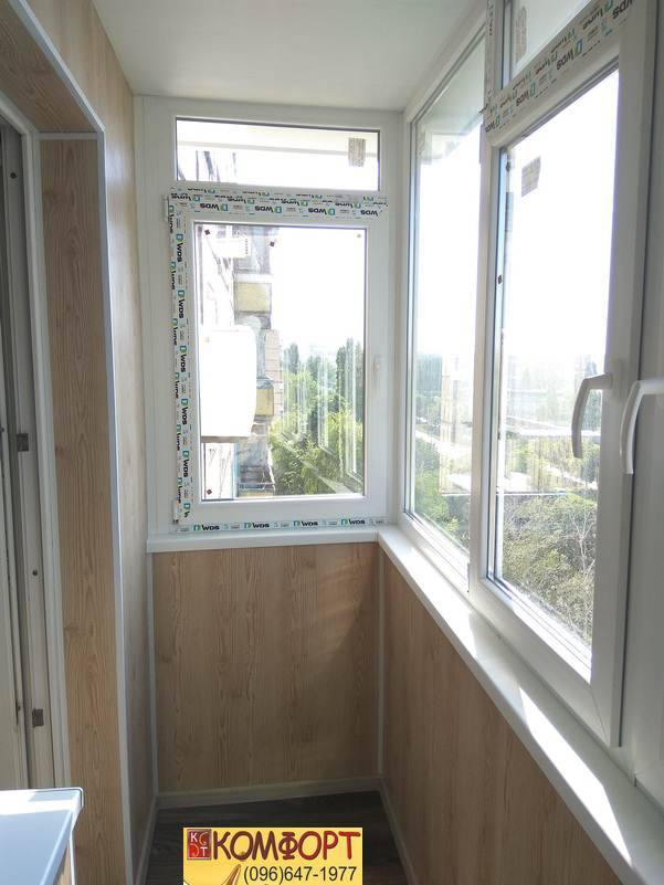 обшивка потолков балконов пластиком