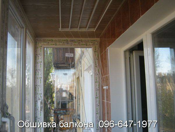 обшивка пластиком балкон фото