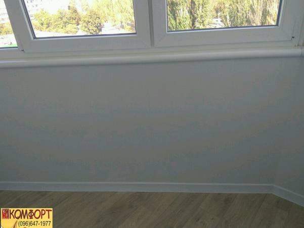 обшивка балкона от компании Комфорт изнутри